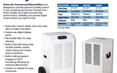 Active Air Commercial Grade Dehumidifiers